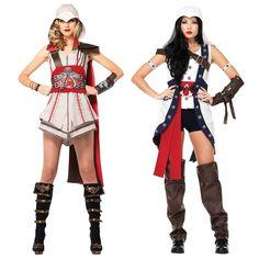 Female Assassins Creed Costume Adult Womens Sexy Cosplay Halloween Fancy Dress #LegAvenueInc (I'd wear it with Leggings)