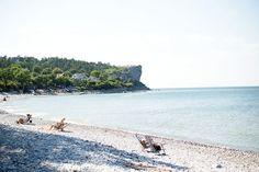 Fridhem är min favoritstrand på Gotland tror jag. Så speciell med de stora stenarna, väldigt rivieralik och tom.