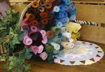 """Wool Blend Felt Central - Wool Blend Felt 12x18 pieces  """"$1.75 each!  Especially need white, cream, brown, light blue, dusty blue, gray, green, and red."""""""