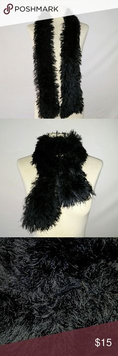 #hundredsofscarves: PLUSH Black Scarf Great Looking Super Soft Plush Black Scarf. No tags. In excellent used condition. From a smoke free home. Make an offer! BUNDLE & Automatically Get 20% Off on 2+ Items. Bundle one or more items and I'll make you a private offer up to 40% off - the bigger the bundle the bigger the savings! *Hundreds of Scarves @gratefulbox = POSH AMBASSADOR at yr service!* Vintage Accessories Scarves & Wraps