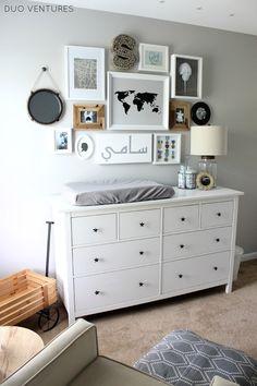 IKEA HEMNES dresser + star pulls = custom dresser & changing table