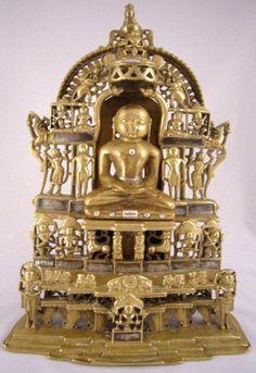 Large Indian Jain Shrine Dated 1617