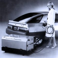 Ford AFV Concept, 1982. An Alternative Fuel prototype coupé with a 1.6 litre engine that could run on Methane (CNG), Propane (LPG), Methanol, or Diesel