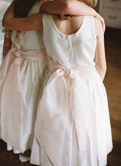 sweet flower girl bows | Virgil Bunao #wedding