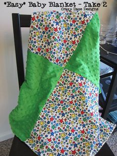 Crazy Daze Designs: The *Easy* Baby Blanket: Take 2