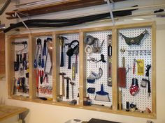 Various of garage storage hooks Garage Design Ideas Pinterest