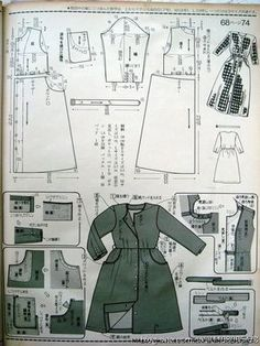 Diy Clothes No Sewing Dresses Stitches 26 Trendy Ideas Japanese Sewing Patterns, Easy Sewing Patterns, Clothing Patterns, Apron Patterns, Bodice Pattern, Jacket Pattern, Sewing Clothes, Diy Clothes, Underwear Pattern