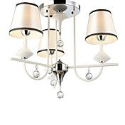 40W Crystal Chandelier with 3 Lights - Fabric... – USD $ 167.99