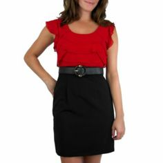 by&by Red Belted Dress this is really just a cute little dress!