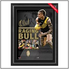 THE RAGING BULL – DUSTIN MARTIN 2016 JACK DYER MEDALLIST SIGNED LITHOGRAPH $495.00 #richmond #dustinmartin #memorabilia