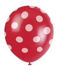 Luftballons Punkte rot bei www.party-princess.de