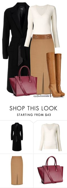 """""""Work or Play or Thanksgiving Day"""" by nycfashionista ❤ liked on Polyvore featuring 7 For All Mankind, Chloé, Jaeger, H&M, Belstaff, women's clothing, women, female, woman and misses"""