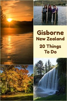 The best things to do in Gisborne New Zealand include hiking hot pools, hand feeding stingrays, national arboretum, natural rockslide, or learning about the local Maori culture. New Zealand Itinerary, New Zealand Travel Guide, Backpacking Europe, Travel Couple, Family Travel, Gisborne New Zealand, North Island New Zealand, Online Travel Agent, Visit New Zealand
