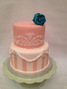 black B cake topper | ... Bridesmaid In Light Blue Cake Topper By Corrnucopia Cake on Pinterest