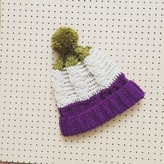 Cable Bobble Ski Hat in Berry  Cream  Lime by TheManchesterBee