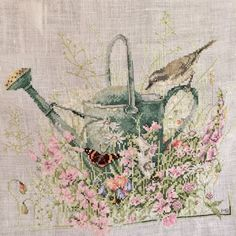 Cross Stitch watering can, designed by Marjolein Bastin.