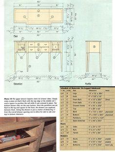 #2716 Sideboard Plans - Furniture Plans