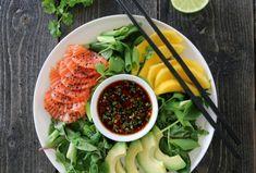 Bilderesultater for trines one pot Sashimi, Cobb Salad, Vegan Vegetarian, Meal Planning, Cravings, Seafood, Food And Drink, Meals, Chicken