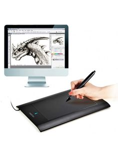 HUION 580 8 x 5 inch Professional Wireless Graphic Drawing Replacement Tablet Pen Drawing Board - Battery Cell(Black) #0