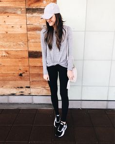 when in doubt...athleisure . go-to black leggings and knotted top are both under $60!     'like' or screenshot this pic to shop in the @liketoknow.it app or via email! http://liketk.it/2qRvr #liketkit #LTKFit
