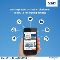 Here is an easy way to find your dream home.  Follow us on #Facebook, #Pinterest, #YouTube, #Instagram and #Facebook to get exciting updates.  https://www.facebook.com/VGN.India https://www.youtube.com/user/vgndevelopers https://twitter.com/vgndevelopers https://plus.google.com/u/2/b/100368246056626378950/