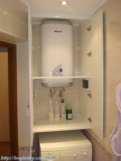 шкаф для бойлера в ванную комнату на заказ киев