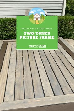 Using the #recycledrubber MultyDeck bases, you can build quick-install ground-level platform decks. Customized designs are possible for your on-ground deck. Simply stain the wooden deck boards to match your outdoor decor. In this video, you will learn how to measure for custom mitered cuts to build a picture-frame border. Trim the bases on the inside of the frame to allow for the inside panels to be affixed to the frame. Add joiner bords, and your deck is complete in mere hours! Decking Base, Composite Decking, Build A Picture Frame, Picture Frames, Platform Deck, Deck Pictures, Wooden Decks, Recycled Rubber, Boarders