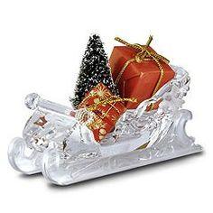 Swarovski Crystal Sleigh, Santa's Christmas