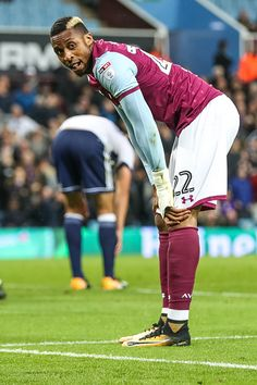 Jonathan Kodjia of Aston Villa contemplates the great chance he had on goal but. Get premium, high resolution news photos at Getty Images Jack Grealish, Championship Football, Villa Park, Birmingham England, Middlesbrough, Aston Villa, Goal, September, Soccer