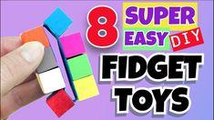 Yarn Crafts For Kids, Fun Easy Crafts, Diy Crafts For Gifts, Paper Crafts For Kids, Diy Crafts Videos, Fun Diy, Diy Fidget Toys, Homemade Fidget Toys, Figet Toys