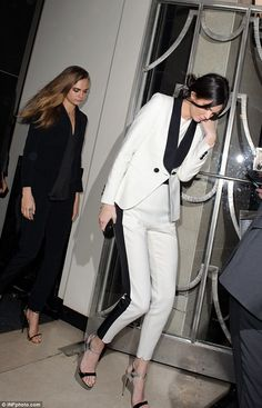 Cara Delevingne and Kendall Jenner step out in stylish trouser suits #dailymail