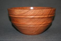 """Cherry bowl w/textured band, (No. 92, 8"""" dia. x 4 1/4"""" high) by Gary Broersma, GB Wood Specialties"""