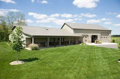 pole barn homes | Metal Barn Homes | Pole Barn Home with Heated Garage | Lafayette ...
