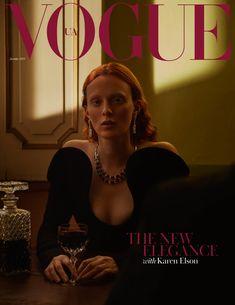 Karen Elson by Patrick Bienert Vogue Ukraine December 2018 Vogue Magazine Covers, Fashion Magazine Cover, Fashion Cover, Vogue Covers, Vogue Editorial, Editorial Fashion, Karen Elson, Vogue Photography, Editorial Photography