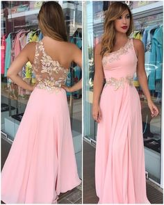 Floor-Long Pink Flowers Sleeveless One-Shoulder Prom Dress High Quality Wedding Dresses, Prom Dresses, Evening Dresses, - Bal de Promo Prom Dresses Long Pink, Lace Evening Dresses, Homecoming Dresses, Evening Gowns, Lace Dress, Girls Dresses, Formal Dresses, Wedding Dresses, Evening Party