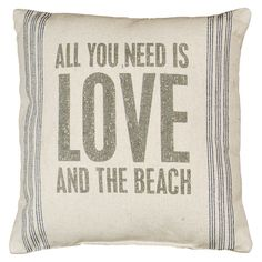 Love and the Beach Pillow