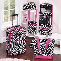 6-piece Zebra Luggage Set from Midnight Velvet $99.00 - easy identification!