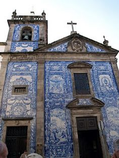 Church with azulejos in Portugal