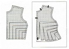 upsize a bodice without enlarging the shoulders - (should work in reverse as well to downsize shoulders whilst leaving the rest of the pattern correct?)