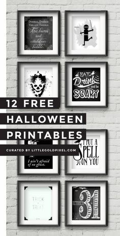I'm loving these minimalist black and white free Halloween printable posters. Choose one or more, print and ta da! They look lovely framed, but can also work with just a tack or some washi ta…