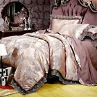 Queen size Queen size The duvet cover outer is made of stain jacquard fabric, with high count and density, silky and gloss. Duvet cover inner use embroidery process. Material: Satin and cottn fabric. Satin Bedding, Cotton Bedding Sets, Queen Bedding Sets, Duvet Bedding, King Duvet, Luxury Bed Sheets, Luxury Bedding Sets, Royal Bed