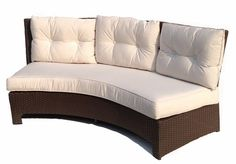 #Deal of the Day!  +15 % OFF - Synthetic Wicker Curved Sectional