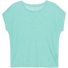 Majestic Filatures Oversize Linen Mint // Loose-fitting linen T-shirt (€69) ❤ liked on Polyvore featuring tops, t-shirts, shirts, linen tee, burnout t shirt, blue top, burnout tee and blue tee