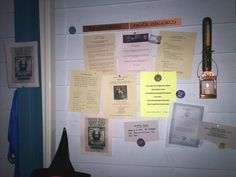 Hogwarts Notice Board - from the leaky cauldron (not sure if' I've pinned this before)