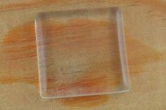 [052530p] Kaboszon szklany kwadratowy płaski 30mm