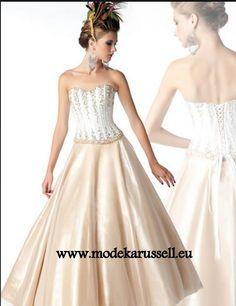 Elegantes Abendkleid zur Hochzeit in Beige