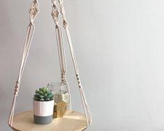 Macrame Plant Hanger // Floating Shelf