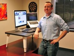 The Stand Up Desk Kit by DeskBros - BEST way to lose weight at work!