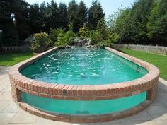 Brick Pool pool luxury homes exterior design pools pool designs mansions pool ideas water walls amazing homes luxury homes modern pools