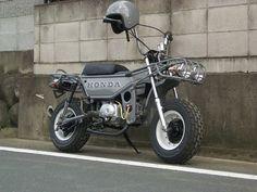 A robust little fella. Steampunk Motorcycle, Motorcycle Bike, Honda Bikes, Honda Motorcycles, Honda Motors, Small Motorcycles, Vintage Motorcycles, Vintage Moped, Honda Ruckus